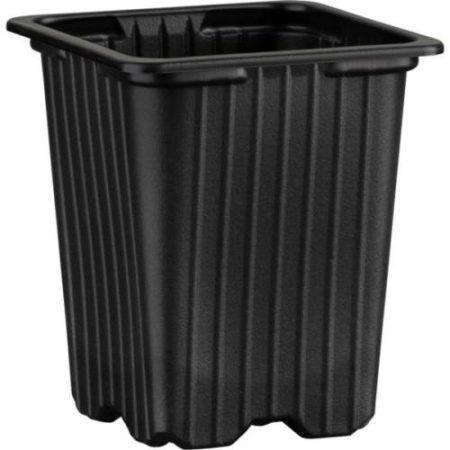 Desch Plantpak palántanevelő műanyag szögletes cserép 7*7*8 cm, fekete