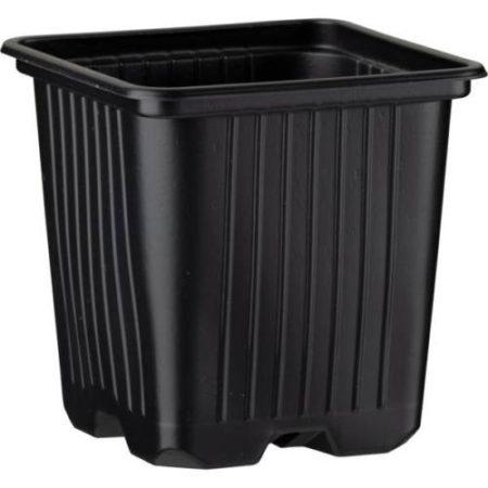 Desch Plantpak palántanevelő műanyag szögletes cserép 8x8x8 cm, fekete