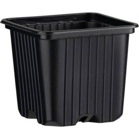 Desch Plantpak palántanevelő műanyag szögletes cserép 8*8*7 cm, fekete
