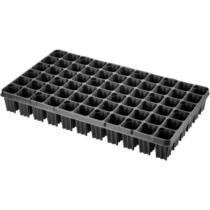 Desch Plantpak műanyag szögletes szaporító tálca 53x30 cm erdész 66 lyukas, fekete